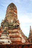 Ruined wat in old Siam Kingdo Royalty Free Stock Photo