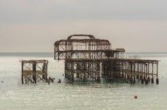 Ruined West Pier, Brighton, Sussex, England Stock Photos