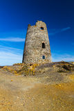 Ruined windmill on Parys Mountain Royalty Free Stock Photos