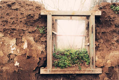 Ruined window Stock Image