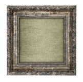 Ruined wooden frame with canvas interior Stock Images