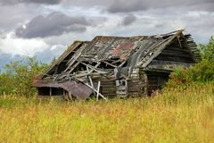 Ruined wooden house. Abandoned and ruined wooden house Stock Image