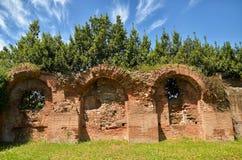 Ruinen墙壁在罗马 图库摄影