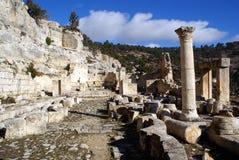 Ruinen in Alahan Stockfoto