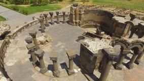 Ruinen alter Zvartnots-Kathedrale gelegen in Armavir-Provinz, Armenien stock video