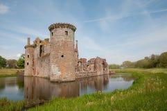Ruinen auf dem Burggraben Stockfotos