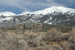 Ruinen auf den Rockies Stockbild