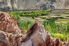 Ruinen, Basgo-Kloster, Leh-ladakh, Jammu und Kashmir, Indien Stockfoto