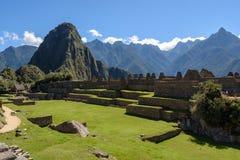 Ruinen bei Machu Picchu, Peru stockbild