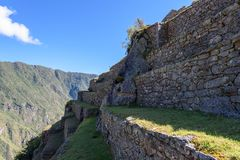 Ruinen bei Machu Picchu, Peru lizenzfreie stockbilder