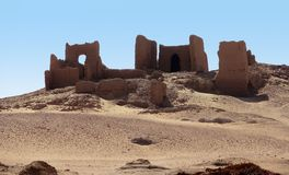 Ruinen bei Qasr Dusch Stockbild