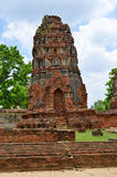 Ruinen bei Wat Maha That in Ayutthaya Stockbild