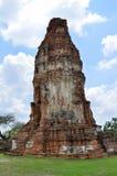 Ruinen bei Wat Maha That in Ayutthaya Stockfoto