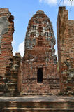 Ruinen bei Wat Maha That in Ayutthaya Lizenzfreie Stockfotografie