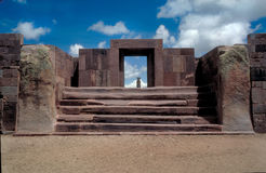 Ruinen Bolivien lizenzfreies stockbild