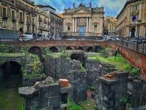 Ruinen in Catania Stockbild