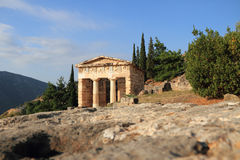Ruinen in Delphi, Griechenland. Stockfotografie