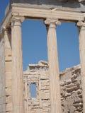 Ruinen an der Akropolise in Griechenland Lizenzfreie Stockfotografie
