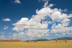 Ruinen der alten Armee-Kasernen Lizenzfreie Stockfotos