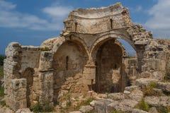 Ruinen der alten byzantinischen Stadt von Afendrika Stockfotos