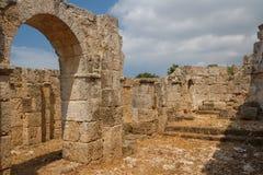 Ruinen der alten byzantinischen Stadt von Afendrika Stockbilder