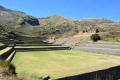 Ruinen der alten Inkastadt von TipÃ-³ n, nahe zu Cusco, Peru stockbilder