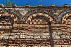 Ruinen der alten Kirche der heiligen Erzengel Michael und Gabriel in der Stadt von Nessebar, Stockbilder