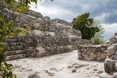 Ruinen der alten Mayastadt von Calakmul Stockbilder