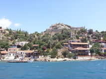 Ruinen der alten Stadt auf der Kekova-Insel, die Türkei Stockbilder