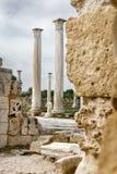 Ruinen der alten Stadt der Salamis, Famagusta, Zypern Lizenzfreie Stockfotos