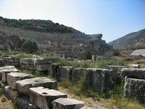 Ruinen der alten Stadt Ephes Stockbilder