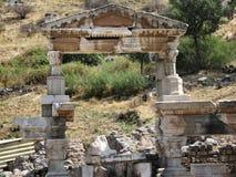 Ruinen der alten Stadt Ephes Stockfotos