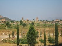 Ruinen der alten Stadt Ephes Stockbild