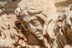 Ruinen der alten Stadt Hierapolis, jetzt Pamukkale stockbild