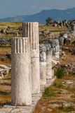 Ruinen der alten Stadt Hierapolis, jetzt Pamukkale lizenzfreie stockfotografie