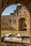 Ruinen der alten Stadt Hierapolis, jetzt Pamukkale stockfotos
