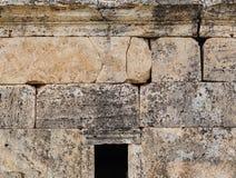 Ruinen der alten Stadt, Hierapolis nahe Pamukkale, die Türkei Stockfotos