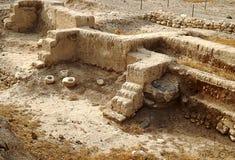 Ruinen der alten Stadt Jericho in Israel Stockbild