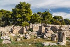 Ruinen der alten Stadt von Epidaurus Lizenzfreie Stockfotos