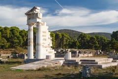 Ruinen der alten Stadt von Epidaurus Stockfotos