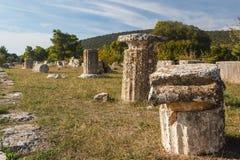 Ruinen der alten Stadt von Epidaurus Lizenzfreie Stockbilder