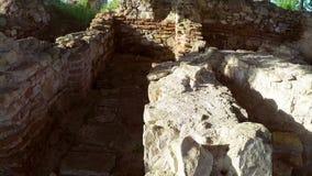 Ruinen der alten Stadt von Halmyris stock video