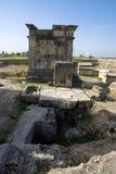 Ruinen der alten Stadt von Hierapolis Lizenzfreie Stockbilder