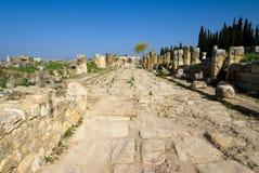 Ruinen der alten Stadt von Hierapolis Stockbilder