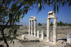 Ruinen der alten Stadt von Hierapolis die Türkei Lizenzfreies Stockbild