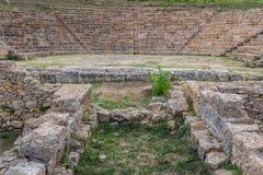 Ruinen der alten Stadt von Morgantina, Sizilien-Insel Stockfotos