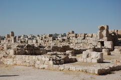 Ruinen der alten Zitadelle Amman, Jordanien Lizenzfreies Stockfoto