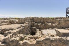 Ruinen der altgriechischen und römischen Stadt von Paphos Berühmt, lizenzfreie stockbilder