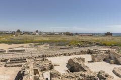 Ruinen der altgriechischen und römischen Stadt von Paphos Berühmt, lizenzfreies stockbild