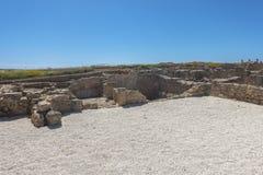 Ruinen der altgriechischen und römischen Stadt von Paphos Berühmt, lizenzfreie stockfotos